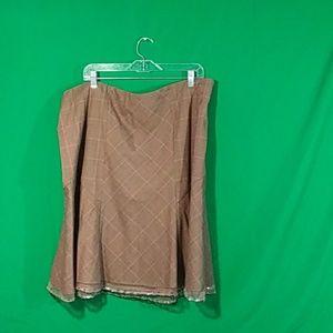 Lane Bryant sz 20 adorable plaid pleated skirt